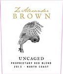 2015 Z ZAC BROWN UNCAGED RED 750ML