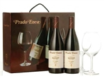 2006 MUGA PRADO ENEA GIFT SET - 2 BOTTLES WITH 2 BURGUNDY STEM GLASSES 750ML