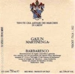 2001 MARCHESI DI GRESY BARBARESCO MARTINENGA GAIUN 750ML