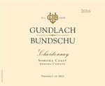 "2016 GUNDLACH BUNDSCHU ESTATE CHARDONNAY ""750ML"""