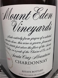 "2015 MOUNT EDEN ""ESTATE"" SANTA CRUZ MOUNTAINS CHARDONNAY 750ML"