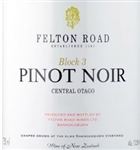 2016 FELTON ROAD PINOT NOIR CENTRAL OTAGO BLOCK 3 750ML