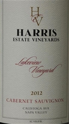 2012 HARRIS ESTATE CABERNET LAKEVIEW VINEYARD